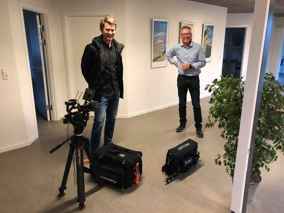 Besøg af TV2 Østjylland